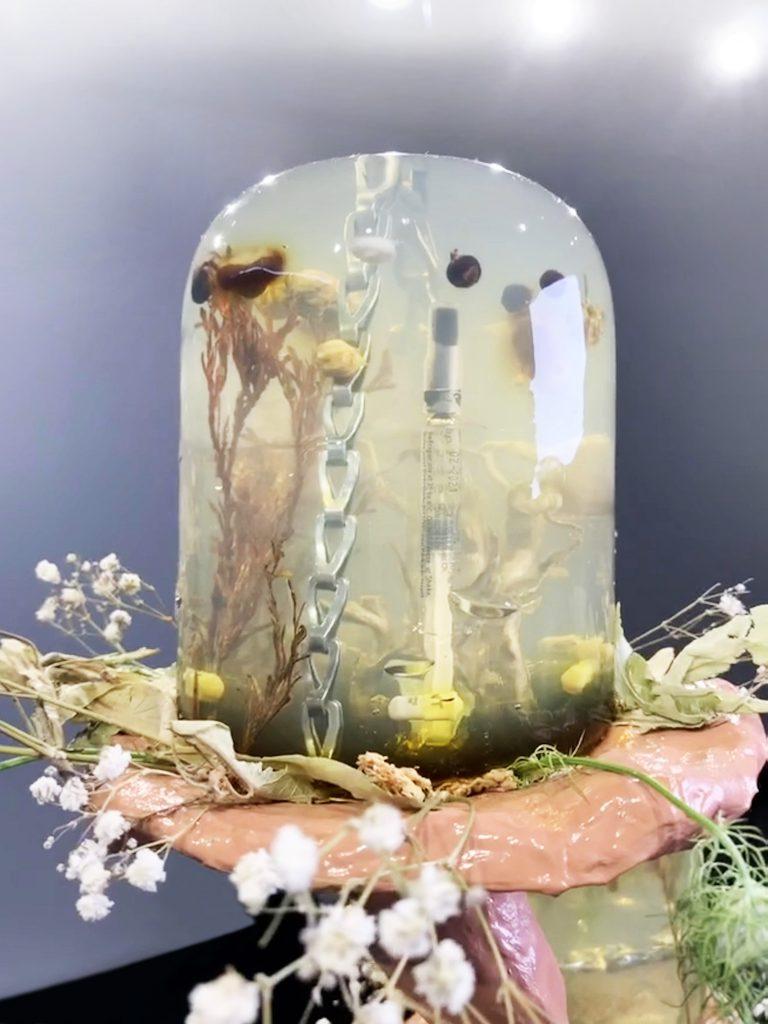 Lime Flower Heterodoxy Detail by Sharona Franklin